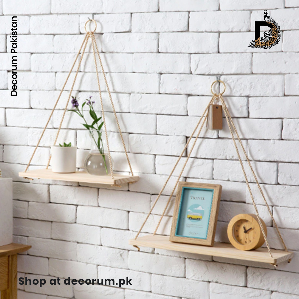 Hanging Wood Wall Shelf